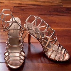 "Madden Girl 3"" Rose Gold Caged Stiletto"